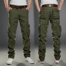 New Casual Men Tactical Cargo Pants Slim Multi-pockets Men Pants Three Colors Available Fashion Cargo Pants Military Style
