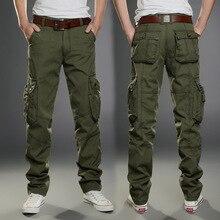 2016 Nuevos Hombres Ocasionales de Carga Tácticos Pantalones Slim multi-bolsillos Pantalones de Los Hombres de Tres colores disponibles Moda de Carga Caliente venta