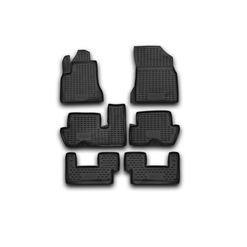 Carpet mats interior fit For CITROEN C4 Picasso, 01/2007-2013, 4 PCs (polyurethane)