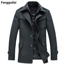 Nieuwe Winter Wollen Jas Slim Fit Jassen Mode Bovenkleding Warme Man Casual Jas Overjas Erwt Jas Plus Size M XXXL
