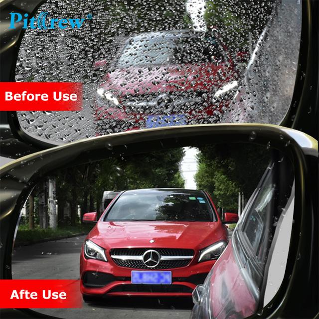 Pitrew 2PCs/Set Anti Fog Car Rearview Mirror Film Rainproof Clear Car Sticker for Car Window Mirror Protective Waterproof Film