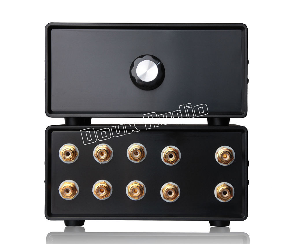 2017 Lastest Douk Audio Passive Stereo 4-IN-1-OUT RCA Audio Splitter / Switcher Selector DIY Free Shipping