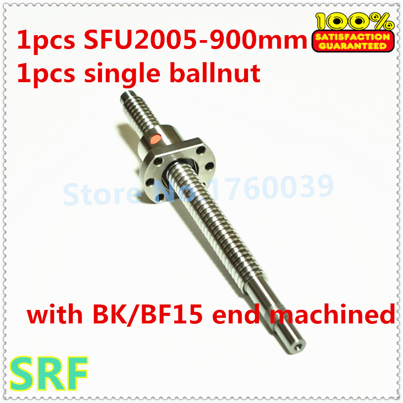 20mm Rolled Ballscrew 2005 L=900mm C7  ball screw+1pcs Flange single ballnut with BK/BF15 end processing for CNC part велосипед trek elite carbon 9 8 2013