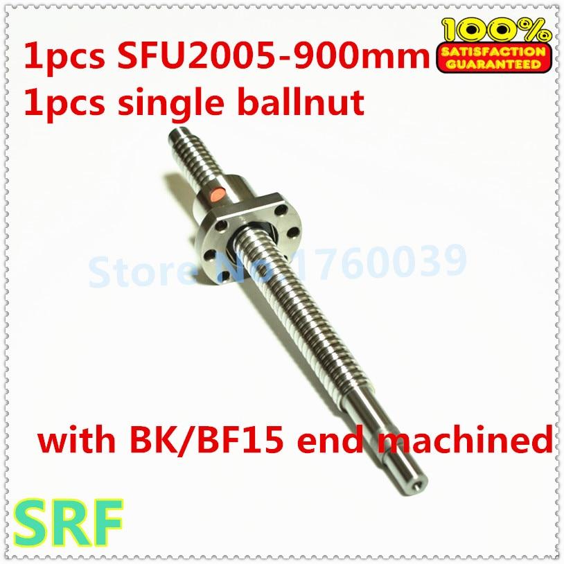 RM2005 SFU2005 L-900mm Ballscrew End Machining with SFU2005 Ballnut CNC parts