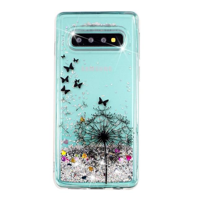 KDTONG Case sFor Samsung Galaxy S10E S10 Plus Case Glitter Liquid Soft Silicone Cover For Samsung Galaxy S10 S 10 Case Cover 5