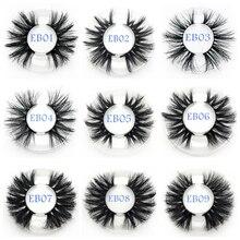 Buzzme 25 มม.ขนตาปลอมขายส่ง 30 คู่/ล็อต 3D Mink Lashesรอบที่กำหนดเองบรรจุภัณฑ์แต่งหน้าDramaticยาวMink Lashes