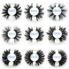 Buzzme 25mm Mink Eyelashes Wholesale 30pairs/lot 3D Mink Lashes round case custom packaging Makeup Dramatic Long Mink Lashes