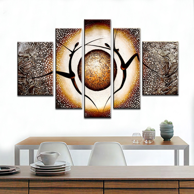100 Hand painted Modern Abstract Dance Landscape Oil Painting On Canvas Scenery On Wall For Living Room Home Decoration in Painting Calligraphy from Home Garden