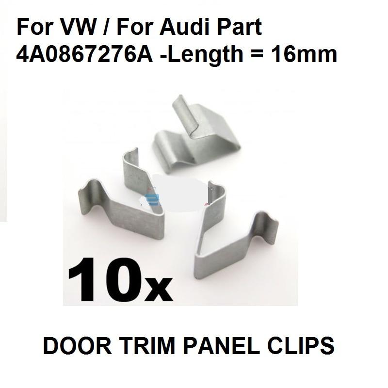 10X Plastic Exterior Interior Clips for BMW MINI  AUDI  SEAT SKODA  VW MERCEDES