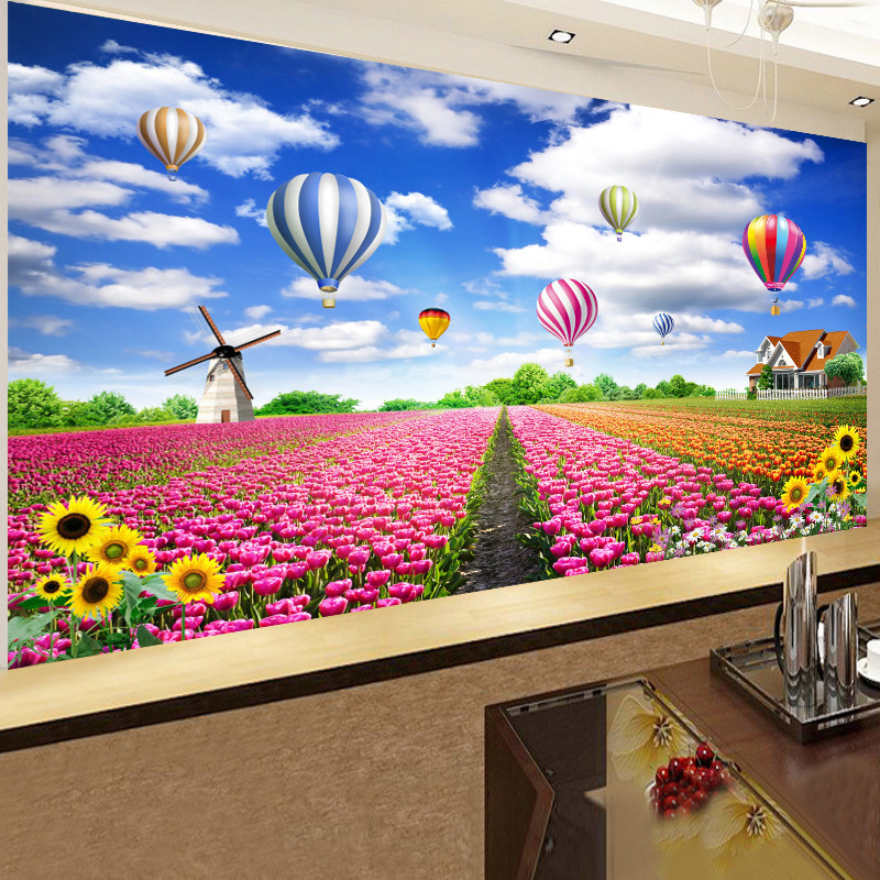 Full 5D diy Diamond Painting On Canvas Diamond Embroidery Cross Stitch Kit Flowers Hot Air Balloons Home Decorative Painting