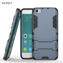 Coque For Xiaomi Mi5 Case Mi 5 Slim Shockproof Robot Armor protector Hybrid Rugged Rubber Hard Stand Cover