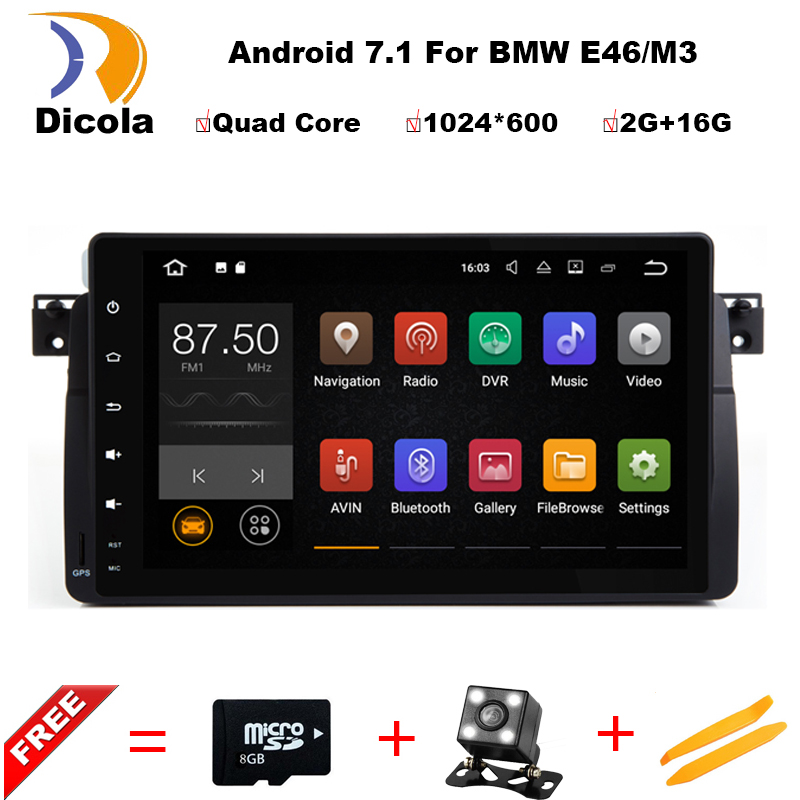 Android 7 1 Quad Core font b GPS b font Navigation 9 Inch Full Touch font