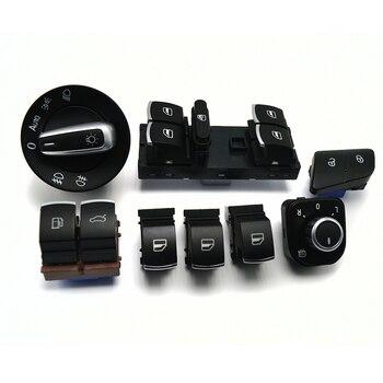 8 pièces/ensemble fenêtre phare miroir hayon & carburant porte contrôle bouton de commutation pour VW Passat B6 3C0962125B 5ND959565B 5ND941431B
