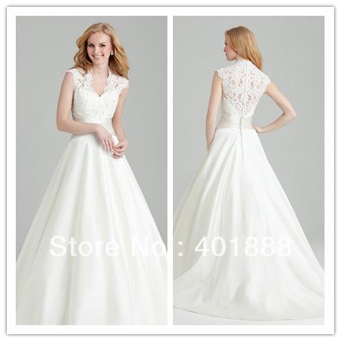 cap sleeve deep v neckline ball gown lace top taffeta wedding ...