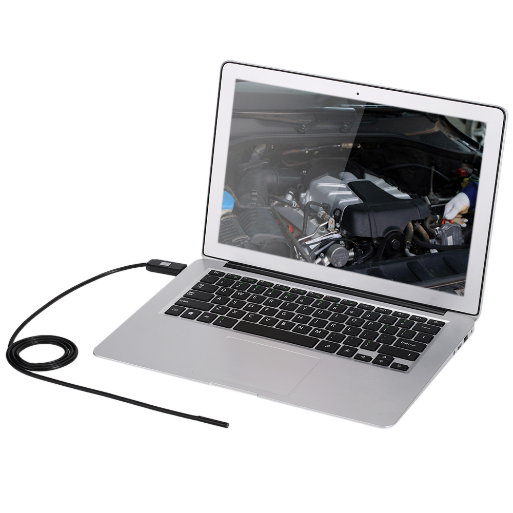 Image 3 - USB Endoscope 0.3MP Borescope 7mm 2M Cable Probe Waterproof Inspection Borescope 6 LEDs USB Wire Snake Tube Camera-in Surveillance Cameras from Security & Protection