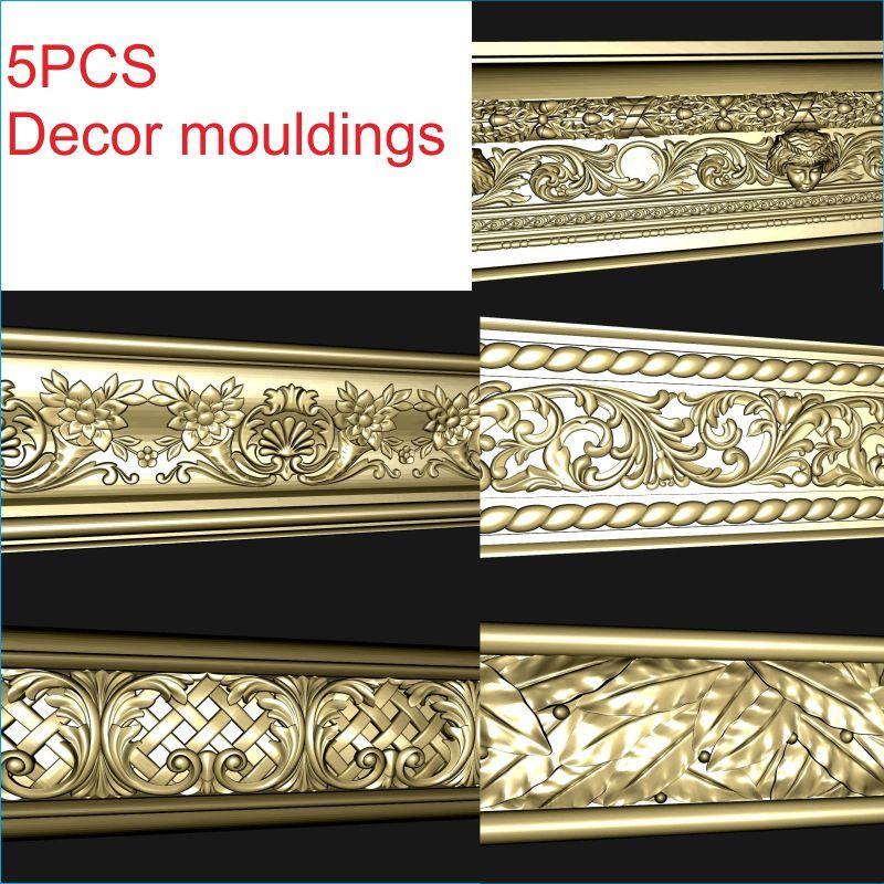 Формы для декора 3D модель STL рельефа для мебели формата cnc