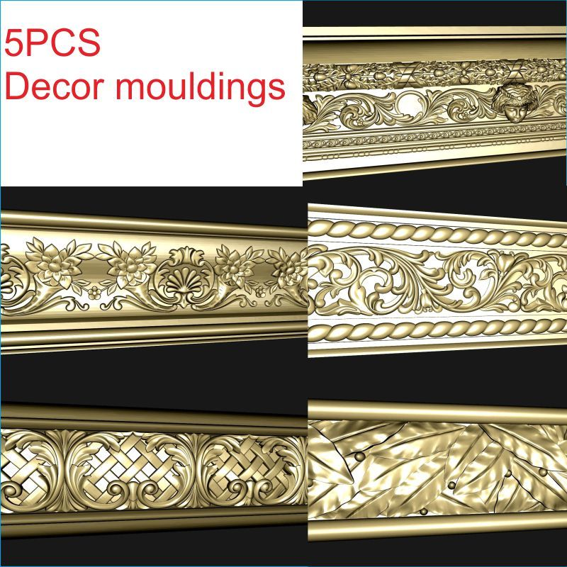 Decor mouldings 3D Model STL relief for cnc format Furniture 3d model relief for cnc in stl file format table leg furniture leg 76