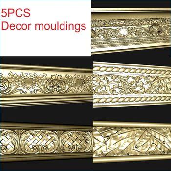 Molduras da decoração 3d modelo stl relevo para a mobília do formato do cnc