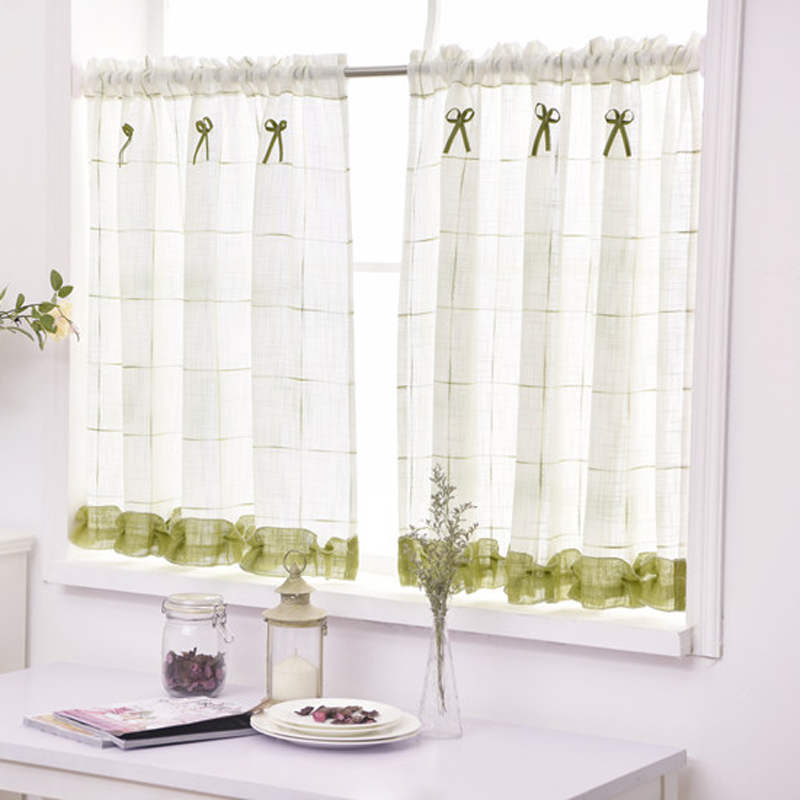 Kitchen Entrance Curtain: Kitchen Short Curtains Roman Blinds White Sheer Tulle