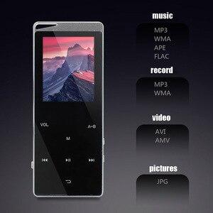 Image 3 - Kim Loại Sang Trọng MP4 Nghe Bluetooth Cho Người Chơi Di Động Slim MP3 MP4 Truyền Thông 2.4 Inch Phím Cảm Ứng Đài FM 16 GB/ 40GB Tặng