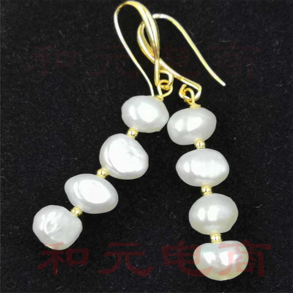 20-35MM baroque south sea pearl earrings  18K DIY REAL dangler natural natural