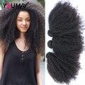 7A cabelo Virgem Encaracolado Afro Crespo Mongol Cabelo Crespo crespo 3 peças/lote cabelo rosa queen produtos de cabelo cabelo humano tece bundles 4b 4c