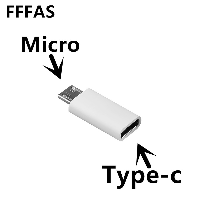 FFFAS Micro USB Male to Type c Female Android Phone Cable Adapter Charger Converter for Xiaomi Mi6 Mi5 Huawei P9 P10 letv Cable 1pc micro usb female to mini usb male adapter charger adaptor converter black wholesale cheaper