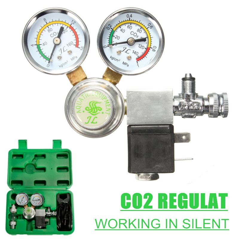Utility CO2 Regulator with Check Valve Bubble Counter magnetic Solenoid Valve Aquarium Carbon dioxide pressure reducing valve|CO2 Equipment| |  - title=