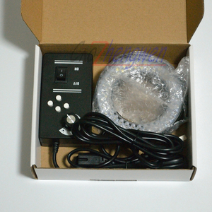 Image 3 - FYSCOPE جديد سطوع قابل للتعديل 64 مجهر ستيريو LED مصباح مصمم على شكل حلقة مصباح إضاءة مع محول 4 منطقة التحكم