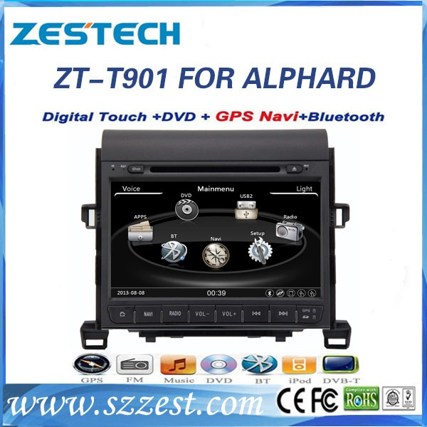 9 inch 2 din car parts accessories for Toyota alphard car radio used auto spare parts with GPS ...