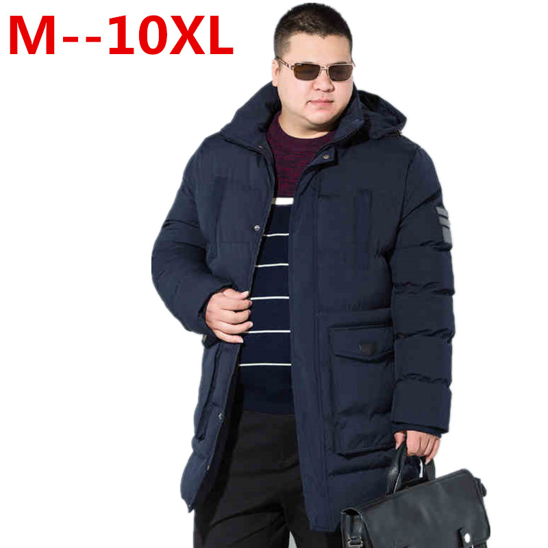 10XL 8XL 6XL winter warm Jackets for men hooded coats casual mens thick coat male slim casual cotton padded down outerwear hot
