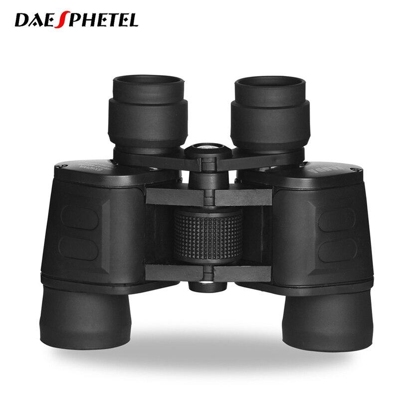 Jumelles portatives à réglage Central Zoom Focus multi-couches 8x40 Vision nocturne Membrane bleue