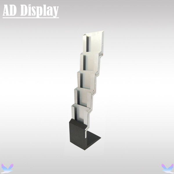 A4 Silver Color Iron Brochure Stand,Advertising Durable Literature