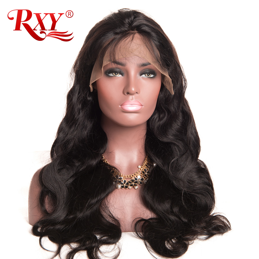 "RXY Glueless Lace Front Human Hair Wigs With Baby Hair 8""-24"" Body Wave Wig Brazilian Hair Wigs For Black Women Non-Remy Hair"