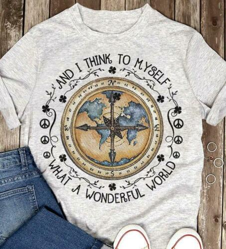 World Map Thing To Myself What A Wonderful World T Shirt Ash Cotton Men S-6XLCool Casual pride t shirt men Unisex Fashion tshirt image