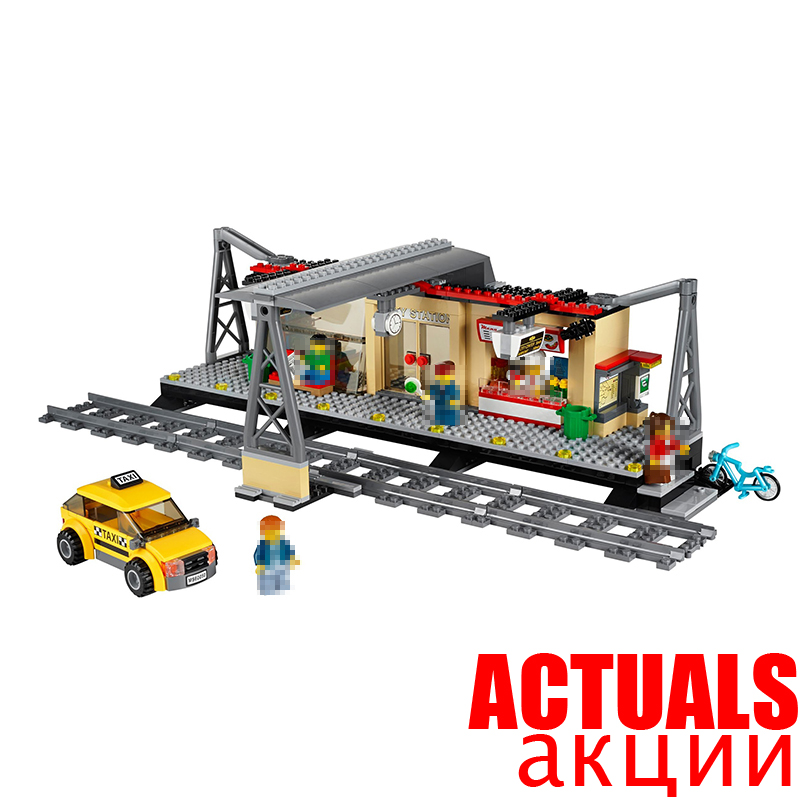 Lepin 02015 Train Station City Building Blocks Bricks DIY Toys Educational For Children oyuncak Compatible with INGly 60050 ...