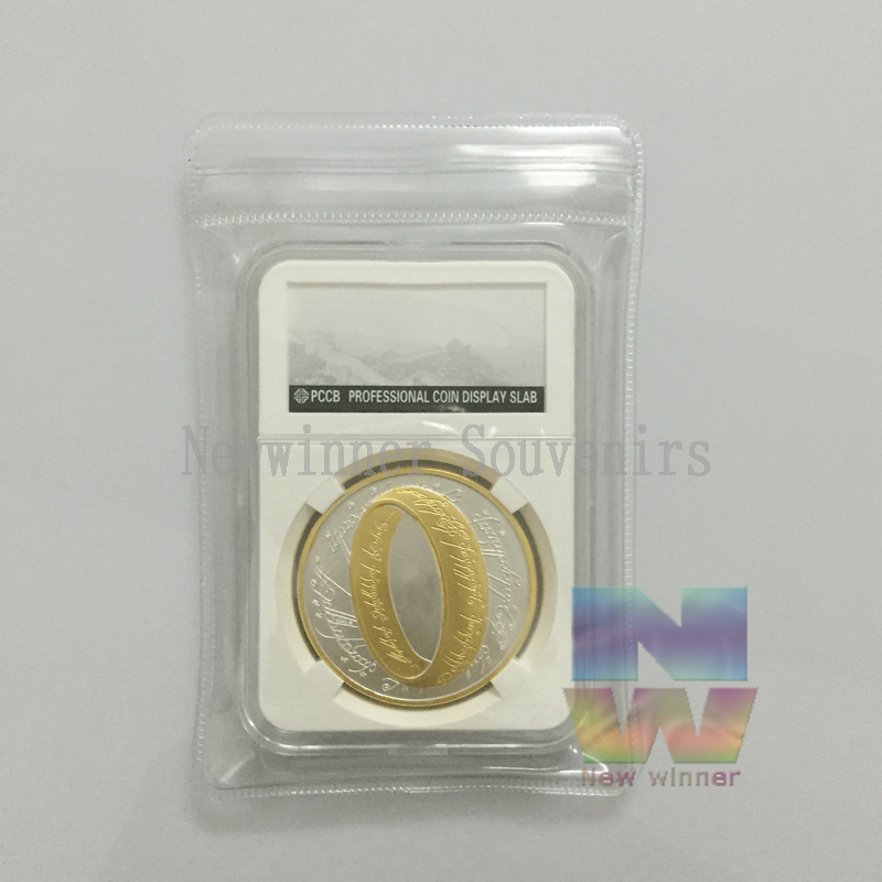 5pcs lot American 1 New Zealand Lord Of The Rings Hobbit Gold Silver Plated Memorabilia Collection