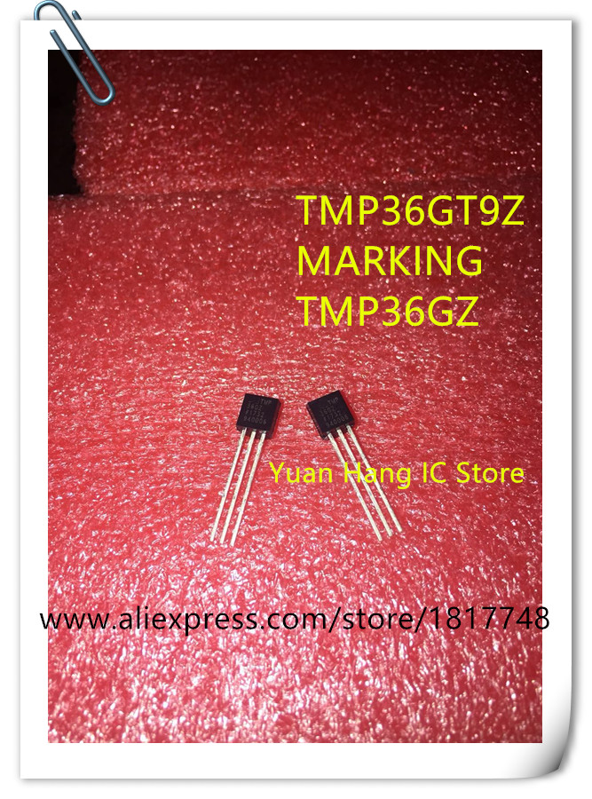 100PCS LOT TMP36 TMP36GT9 TMP36GT9Z TO92 Temperature sensor genuine ADI brand new genuine