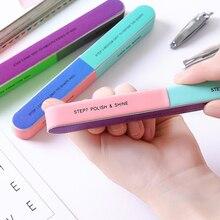 1 шт Шестигранная Полировочная пилка для ногтей креативный Инструмент Печать пилка для ногтей шлифовальная профессиональная пилка для ногтей падение