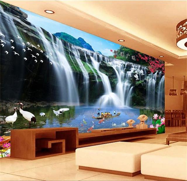 Buy 3d room wallpaper custom mural non for Chinese mural wallpaper