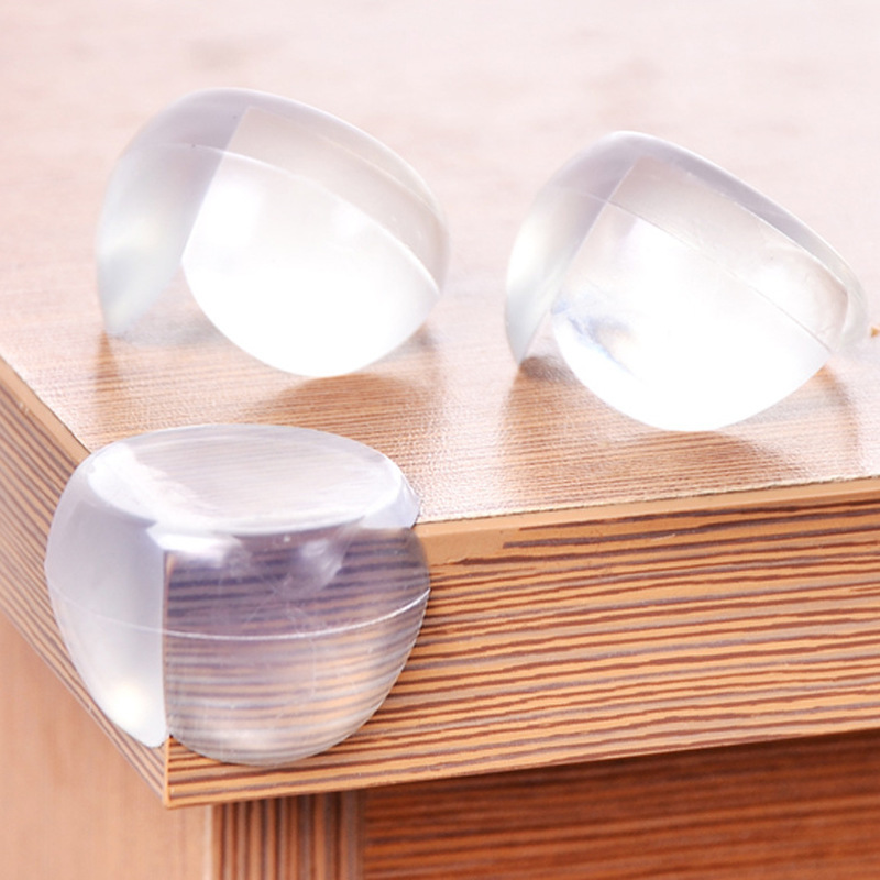 10Pcs/set Baby Safety Transparent Silicone Protector Table Corner Edge Protection Cover Children Security Product Wholesale #TC