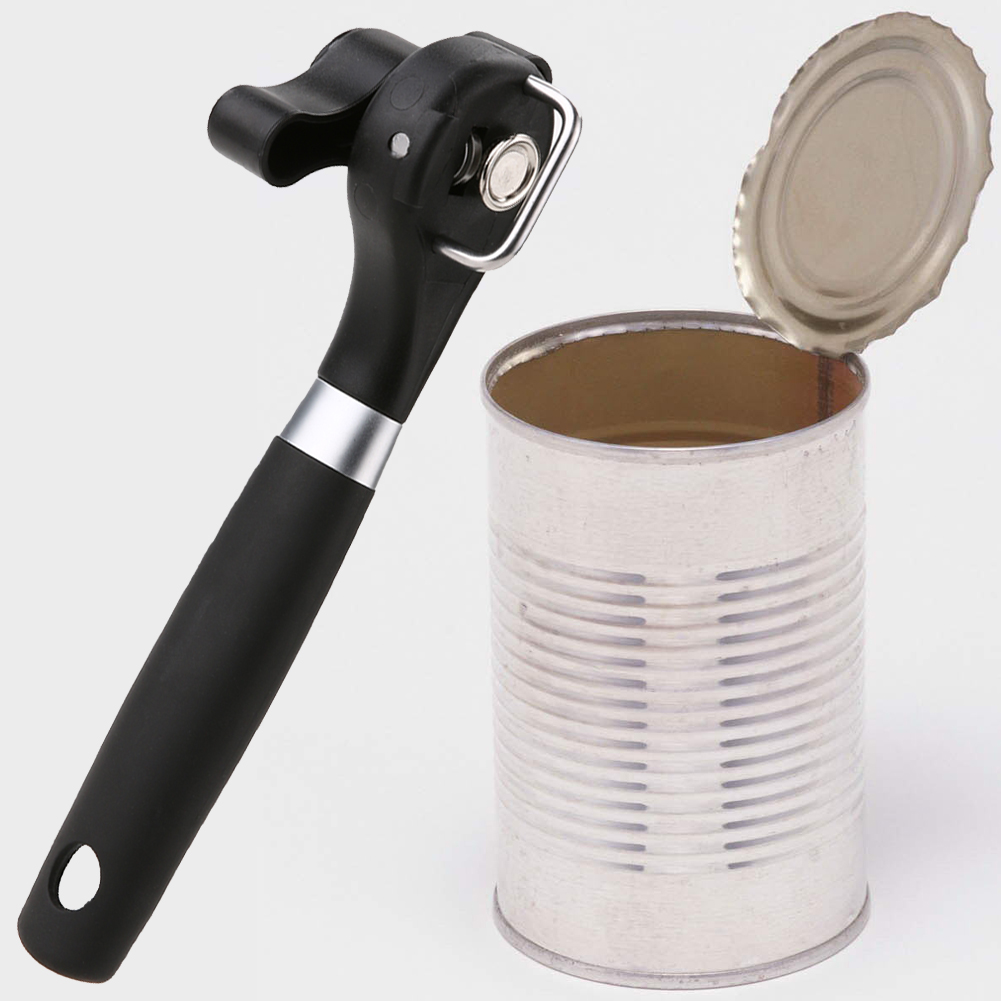 stainless steel side cut jar and can opener and smooth edge bottle opener in kitchen gadgets