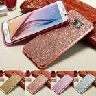 Bling Crystal Glitter Sparkle Plating Case Cover For Samsung S5 S6 S7 Edge S8 Plus Note 8/4/5 J3 J5 2016 J7 Prime J5 J7 Pro 2017