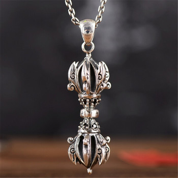 HFANCYW Buddhist Religious 925 Sterling Silver Jewelry Exquisite Thai Silver Vajra Eliminate Evil Keep Safety Pendant Dropship