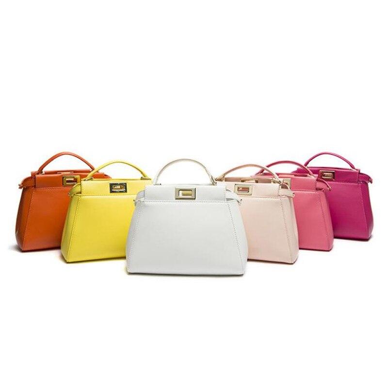 77b316ca US $37.69 48% OFF|2019 New Design 3 Sizes Classic Tote Peekaboo Women Split  Leather Handbags Lady Bag Shoulder Bags For Female Bolsas t1009-in ...