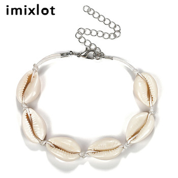 imixlot Personality Creative Hawaiian Style Casual Jewelry Natural Shell Hand-woven Bracelet Bangles For Women Jewelry Gifts image