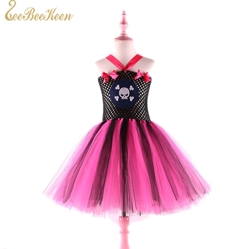 Children Holiday Gift Pirate Cosplay Costume For Girls Tutu Dress Pirate Costume Anime Copslay Movie Pirate Cool Role play Suit