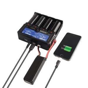 Image 4 - New original XTAR DRAGON VP4 PLUS Smart Battery ChargerSet with Pouch Probes Adapter and Car Charger for 18650 and Battery Pack