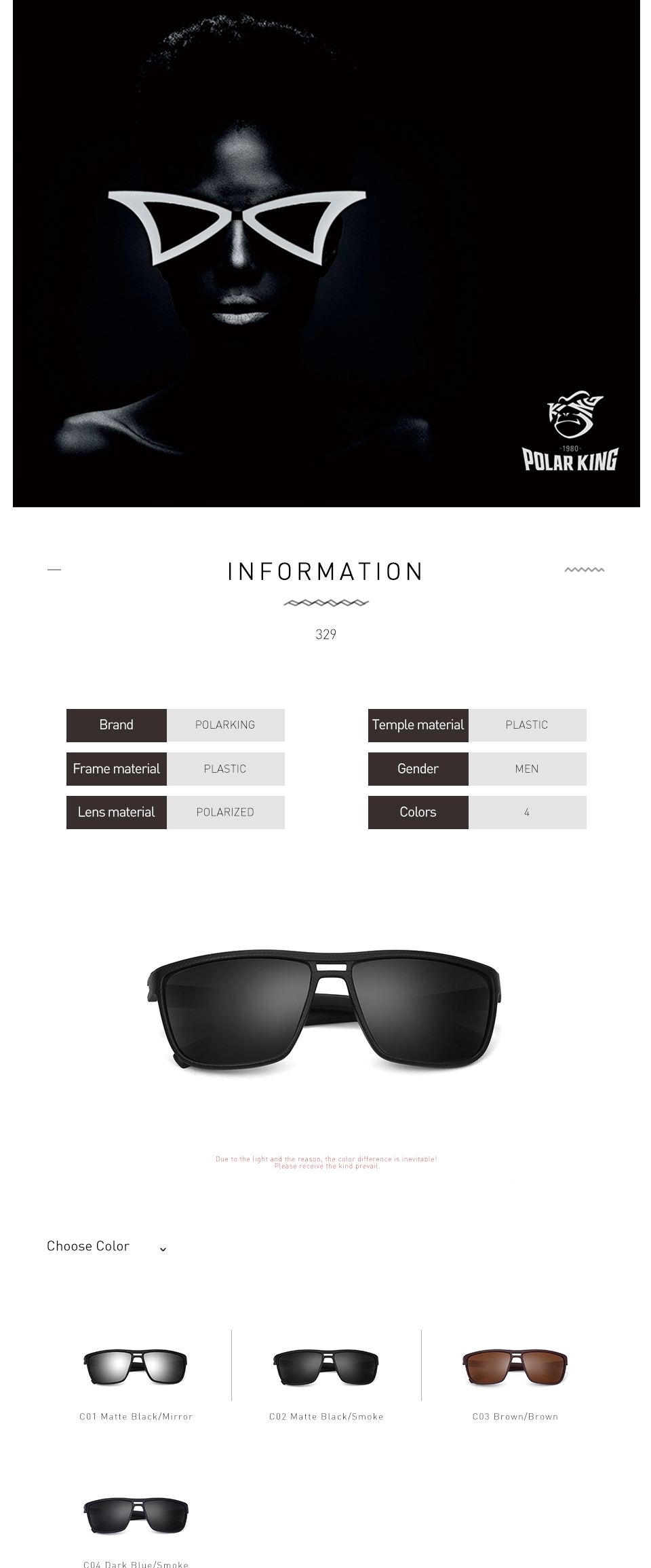 1cc69b5a39 POLARKING Brand Retro Polarized Sunglasses For Men Plastic Oculos ...