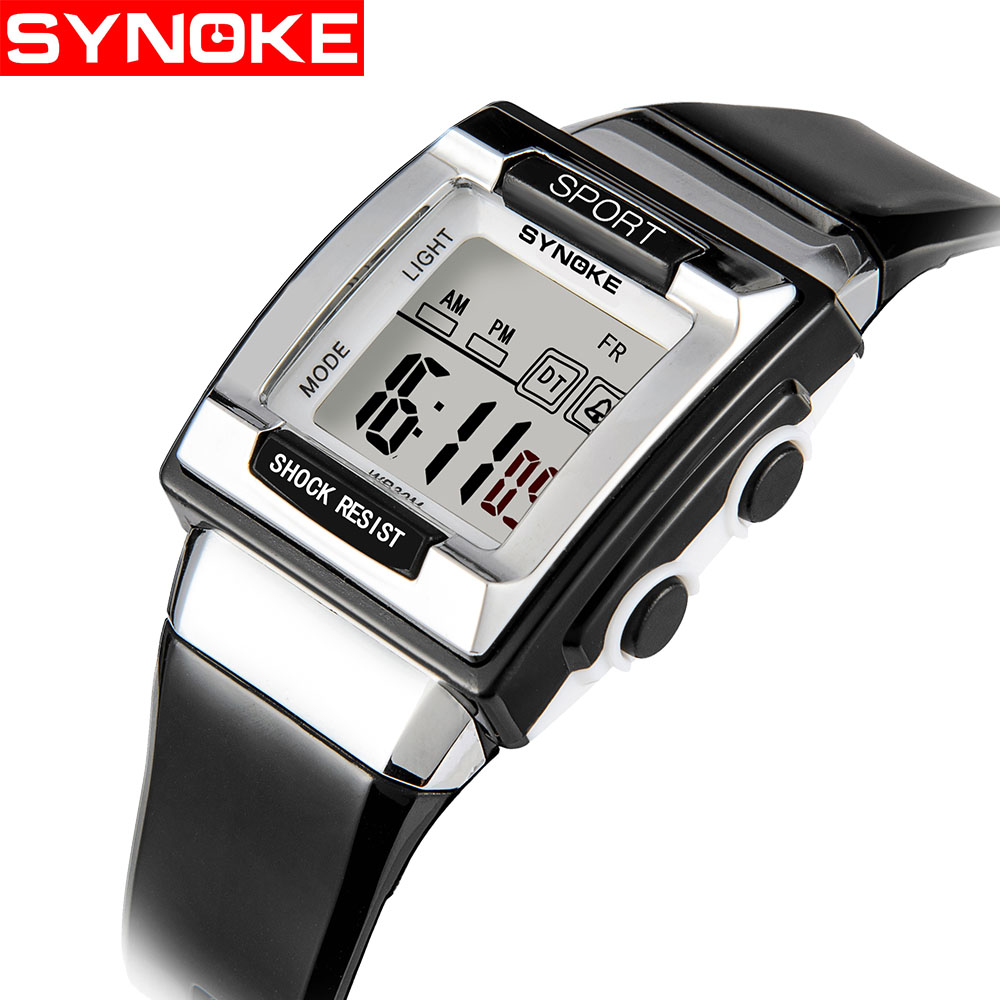 SYNOKE Student's Unique Watch Pupils Personality Electronic Watch Luminous Waterproof Outdoor Automatic Electronic Watch 66188 muhsein sports watch tidal current male brief teenage waterproof luminous outdoor submersible electronic watch